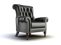 Cadeira clássica preta ilustração stock