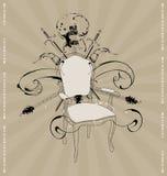 Cadeira com uma guitarra Imagens de Stock