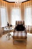 Cadeira Comfy da sala de estar imagem de stock royalty free