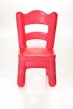 Cadeira cor-de-rosa isolada no branco fotografia de stock royalty free