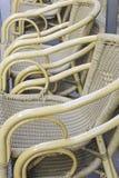 Cadeira da barra do Rattan Fotografia de Stock