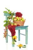 Cadeira da colheita do outono Imagem de Stock Royalty Free
