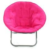 Cadeira da cor-de-rosa quente sobre o branco Fotos de Stock Royalty Free