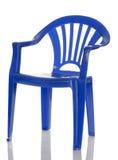 Cadeira da criança plástica azul Fotos de Stock Royalty Free