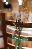Cadeira da decoração do casamento Imagem de Stock