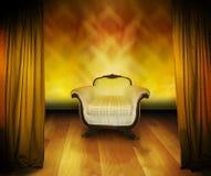 Cadeira da entrevista no estágio imagem de stock royalty free