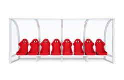 Cadeira da reserva e treinador Bench Isolated do pessoal Fotografia de Stock