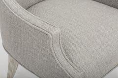 A cadeira da sala de jantar de Sommerford, um acento traseiro aberto de Meados de-século de Whidbey do rebite que janta a cadeira imagem de stock royalty free