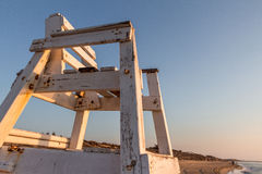 Cadeira da salva-vidas da praia (del segura de Guardamar, Espanha) Imagem de Stock