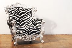 Cadeira da zebra Fotografia de Stock Royalty Free