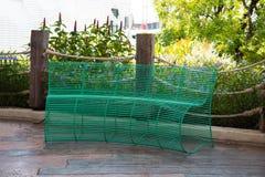 Cadeira de aço da curvatura Foto de Stock Royalty Free