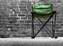 Cadeira de acampamento Imagens de Stock