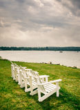 Cadeira de Adirondack Fotos de Stock