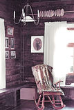 Cadeira de balanço antiga Foto de Stock Royalty Free