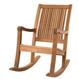 Cadeira de balanço de madeira fotos de stock