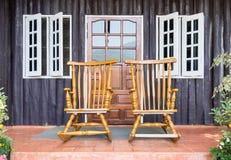 Cadeira de balanço de madeira Foto de Stock Royalty Free