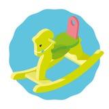 Cadeira de balanço do bebê sob a forma de um cavalo Imagens de Stock