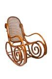 Cadeira de balanço isolada no branco Fotografia de Stock