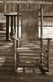 Cadeira de balanço velha Imagens de Stock Royalty Free