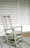 Cadeira de balanço branca Fotos de Stock Royalty Free