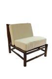 Cadeira de bambu com o descanso isolado fotografia de stock royalty free