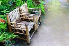 Cadeira de bambu velha Fotos de Stock