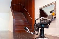 Cadeira de barbeiro fotografia de stock