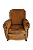 Cadeira de couro de Brown do vintage Imagem de Stock Royalty Free