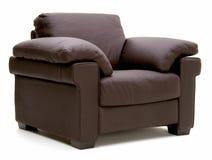 Cadeira de couro do braço Fotografia de Stock