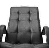 Cadeira de couro do escritório isolada fotos de stock royalty free
