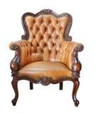 Cadeira de couro do vintage Fotografia de Stock