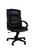 Cadeira de couro preta Imagem de Stock