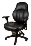 Cadeira de couro preta do escritório Fotografia de Stock Royalty Free