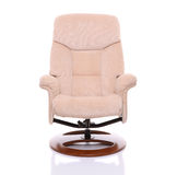 Cadeira de creme do recliner da camurça Foto de Stock Royalty Free