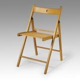Cadeira de dobradura de madeira Fotografia de Stock Royalty Free