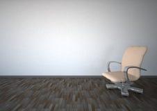 Cadeira de giro vazia do quarto ilustração royalty free
