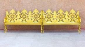 Cadeira de jardim bonita do metal Imagens de Stock Royalty Free