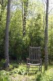 Cadeira de jardim com árvores Imagens de Stock Royalty Free