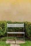 Cadeira de jardim de aço no parque Fotografia de Stock Royalty Free