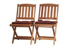 Cadeira de jardim isolada no fundo branco imagens de stock