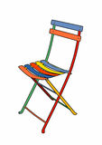 cadeira de jardim Multi-colorida Foto de Stock Royalty Free