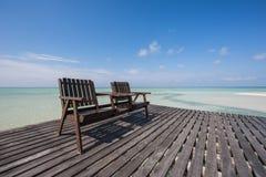 Cadeira de madeira Imagens de Stock