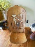 Cadeira de madeira africana Fotografia de Stock