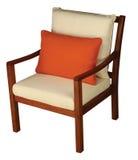 Cadeira de madeira com coxim Imagem de Stock Royalty Free