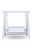 Cadeira de madeira do balanço Fotografia de Stock