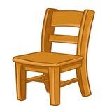 Cadeira de madeira ilustração isolada Fotos de Stock Royalty Free