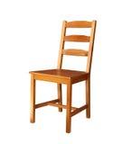 Cadeira de madeira isolada Fotografia de Stock