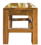 Cadeira de madeira isolada em um fundo branco Imagens de Stock