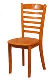 Cadeira de madeira isolada no fundo branco Imagem de Stock