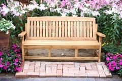 Cadeira de madeira longa Foto de Stock